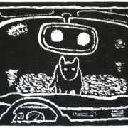 (dog on road)  2007